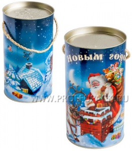 Картонная туба 0,8-1,0кг, диаметр 120мм Рождественская ночь