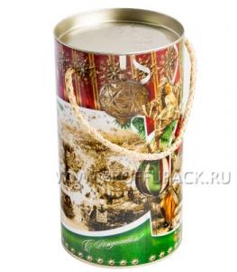 Картонная туба 0,8-1,0кг, диаметр 120мм Новогодние шары