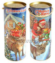Картонная туба 1,8-2,0кг , диаметр 120мм Рождественская история