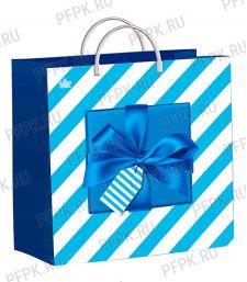 Пакет СОФТПЛАСТ с пласт.ручкой 30х30 (140мкм) мяг.пластик ТИКО Синяя коробочка