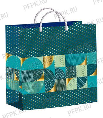 Пакет СОФТПЛАСТ с пласт.ручкой 24х26 (140мкм) мяг.пластик ТИКО Золотые горошки