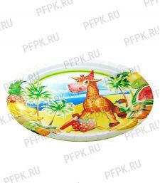 Тарелка бумажная 180мм Жираф