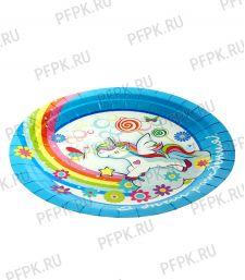 Тарелка бумажная 180мм Единорог
