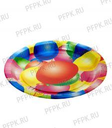 Тарелка бумажная 180мм Шары