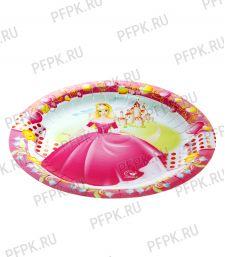 Тарелка бумажная 180мм Принцесса