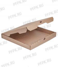 Коробка для пиццы 400х400х40 бурая