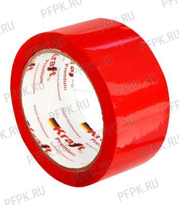 Клейкая лента 48х66 [43 мкм] ЦВ Арт.430354 Красная KRAFT