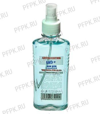 Дезинфицирующее ср-во для рук ЭКО+ 220мл (антисептик)