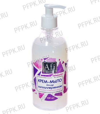 Крем-мыло Afi 500мл с дозатором Гипоаллергенный