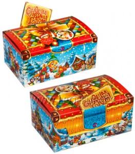Коробка картон. 1200 гр Подарочек