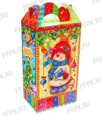 Коробка картон. 900 гр Снеговик Снеговик NEW