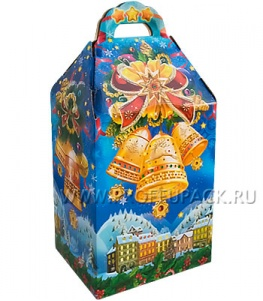 Коробка картон. 1200 гр Мороз мобиль Колокольчики