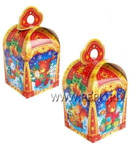 Коробка картон. 800 гр Фонарик Новогодний фонарик