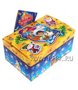 Коробка картон. 900 гр Подарок Подарок от Снегурочки