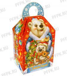 Коробка картон. 1000 гр Зимний подарок