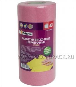 Салфетки вискозные сверхпрочные (рулон 40 шт.) PATERRA (406-154)