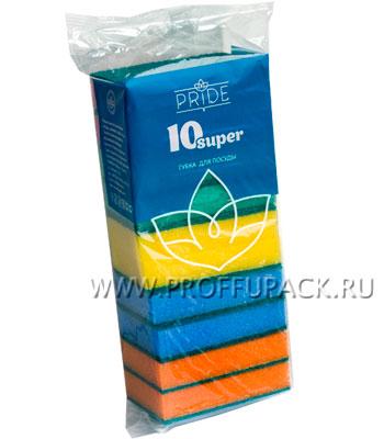 Губки для посуды 10 СУПЕР (набор из 10 шт.)