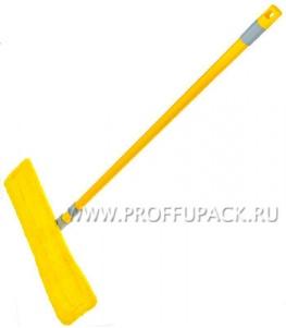 Швабра с губкой из микрофибры VETTA желтая (444-308)