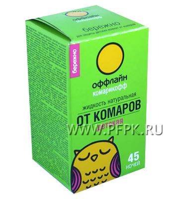 Жидкость от комаров детская КОМАРИКОФФ 30 мл/45 ночей Бережно
