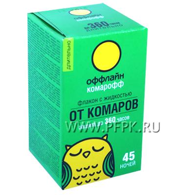 Жидкость от комаров КОМАРОФФ 30 мл/45 ночей ДЛИТЕЛЬНО