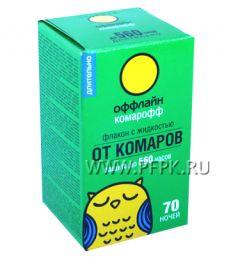 Жидкость от комаров КОМАРОФФ 45 мл/70 ночей ДЛИТЕЛЬНО