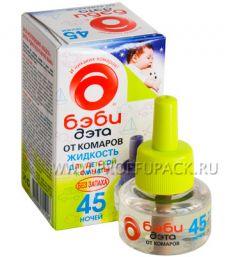 Жидкость от комаров детская ДЭТА БЭБИ 45 ночей