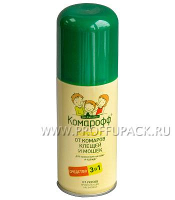 Аэрозоль КОМАРОФФ от комаров, клещей и мошек, 100мл.