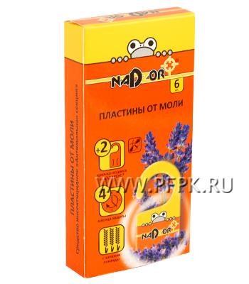 Пластины NADZOR антимоль (лист 6 шт.) MOLOO2N