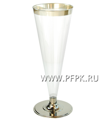 Бокал для шампанского 150мл. метал [уп. 6 шт.] ВИНТАЖ
