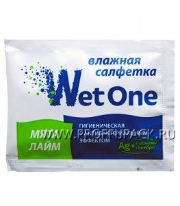 Салфетки влажн. (индивид.упаковка) WET ONE Лайм + мята