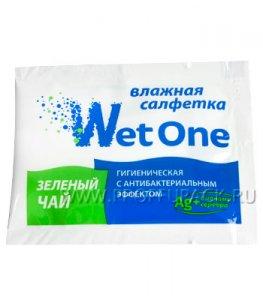Салфетки влажн. (индивид.упаковка) WET ONE Зеленый чай