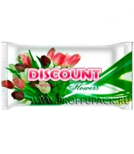 Салфетки влажн. DISCOUNT (уп. 15 шт.) Цветы