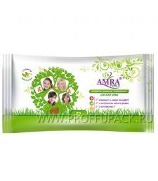 Салфетки влажн. AMRA освежающие (уп. 72 шт.) Для всей семьи