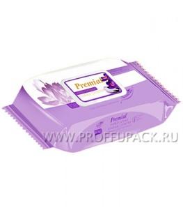 Салфетки влажн. PREMIAL (уп. 100 шт.) С экстрактом крокуса