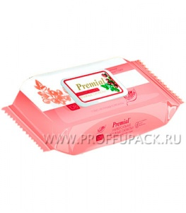 Салфетки влажн. PREMIAL (уп. 100 шт.) С экстрактом ягод годжи