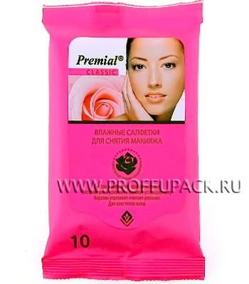 Салфетки влажн. PREMIAL для снятия макияжа (уп. 20 шт.)