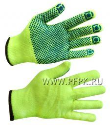 Перчатки зимние акриловые ТОЧКА Жёлтые