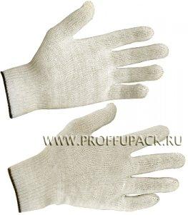 Перчатки х/б без покрытия 4-нитка 10-класс Белые