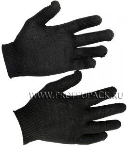 Перчатки х/б без покрытия 4-нитка 10-класс Черные