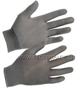 Перчатки нейлоновые с покрытием ТОЧКА Серые