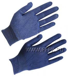 Перчатки нейлоновые с покрытием ТОЧКА Синие