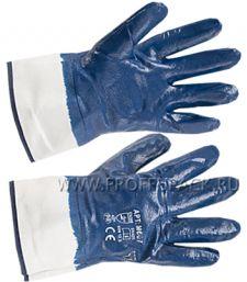 Перчатки х/б с нитриловым обливом МБС (крага) Синий облив