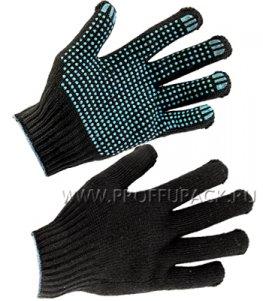 Перчатки зимние акриловые ТОЧКА 5-нитка 7,5-класс Черные