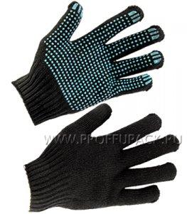 Перчатки зимние акриловые ТОЧКА 7-нитка 7,5-класс Черные