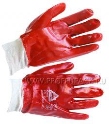 Перчатки х/б с нитриловым обливом ГРАНАТ Красный облив