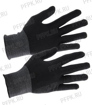 Перчатки нейлоновые Люкс Черные