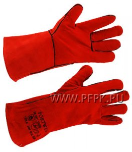 Краги красные с подкладкой