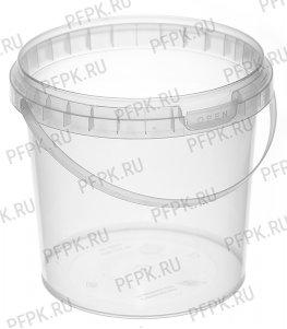 Ведро 1л прозрачное, д-р 131мм (без крышки)