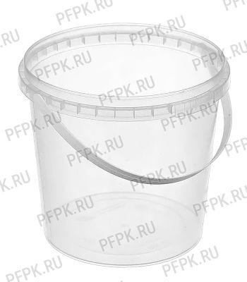 Ведро 2л прозрачное (без крышки ) Прозрачное