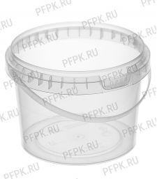 Ведро 0,5л прозрачное, д-р 100мм (без крышки)